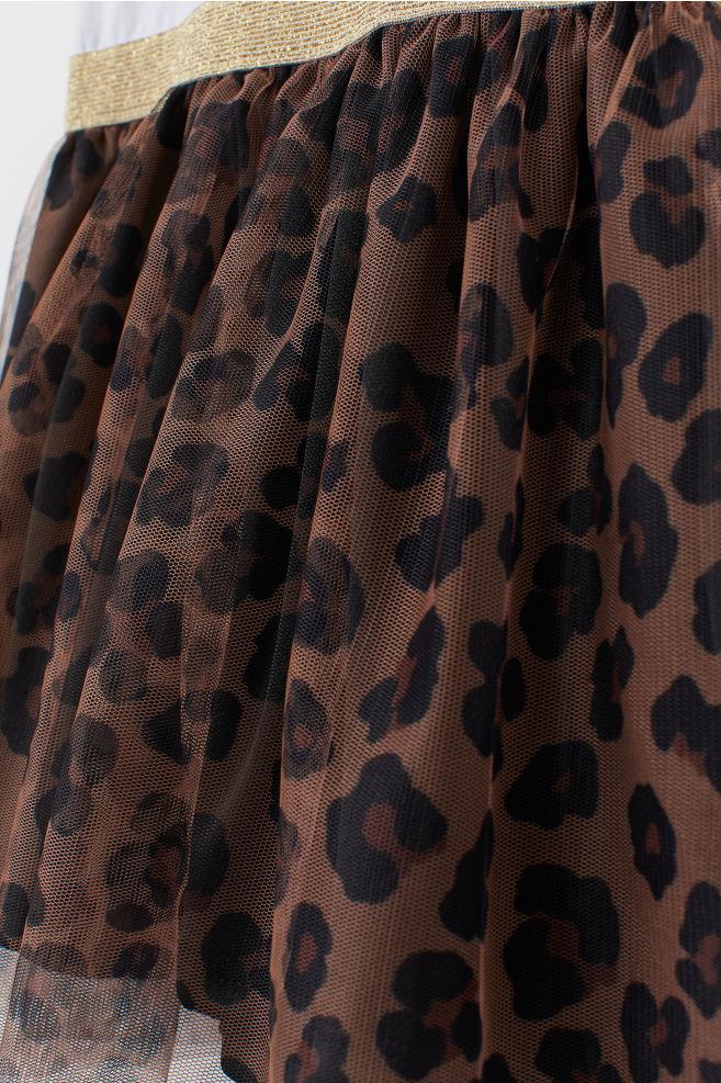 80bd2df3c0b87 Tulle Dress with Printed Motif