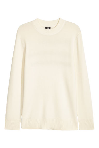 Fine-knit jumper - Natural white -  | H&M
