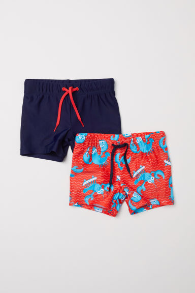 2-pack swimming trunks - Bright red - Kids | H&M CN