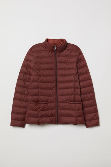 Lightweight down jacket - Dark rust red - Ladies | H&M CN