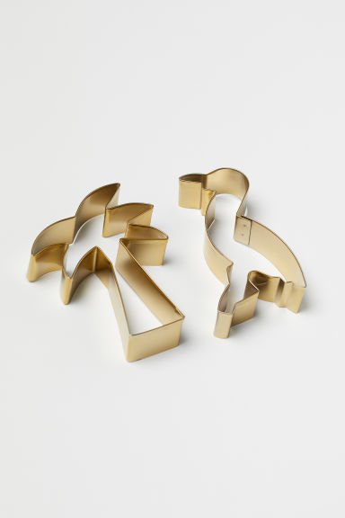 2-pack Cookie Cutters - Gold-colored/palm tree - Home All | H&M US