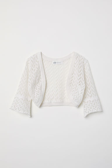 Loose-knit bolero - Natural white - Kids | H&M CN