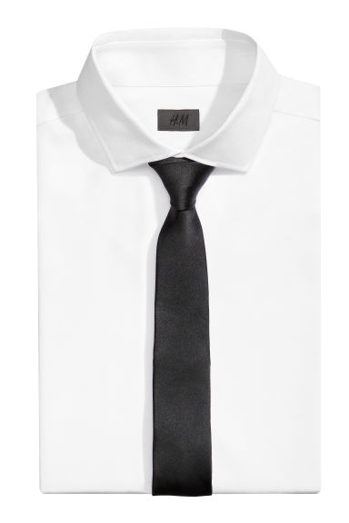 Satin tie - Black - Men | H&M