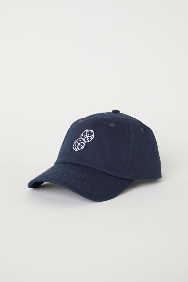 Cotton cap - Dark blue - Men | H&M CN