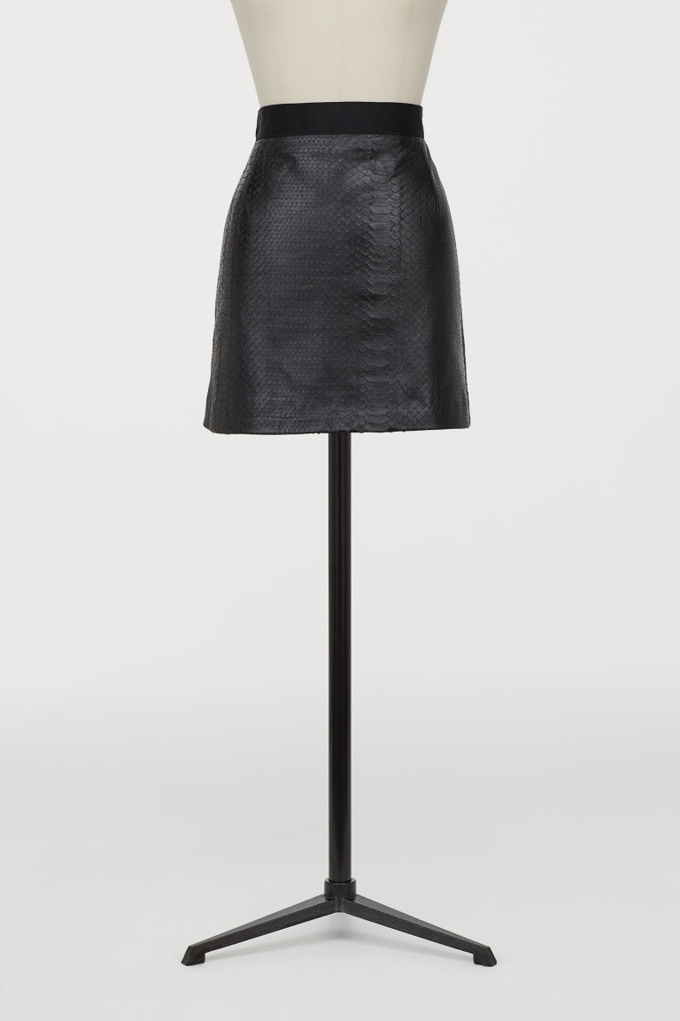 Short leather skirt - Black - Ladies | H&M GB