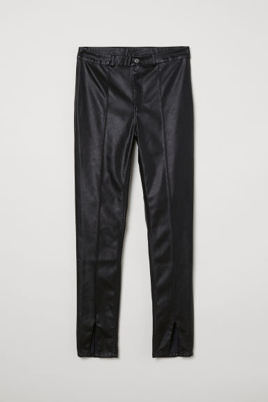 Faux Leather Pants - Black -  | H&M CA