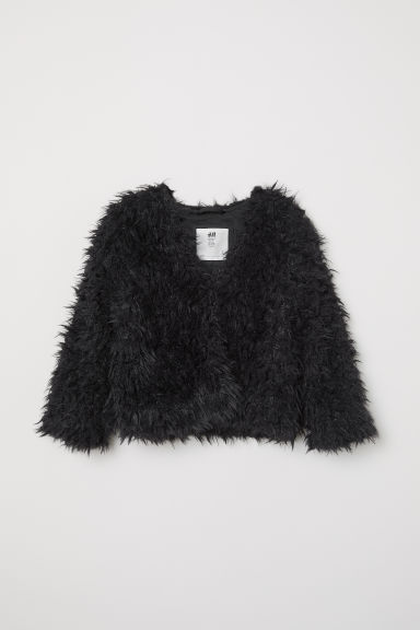 Faux fur jacket - Black - Kids | H&M CN