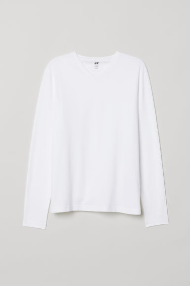 3-pack jersey tops Slim Fit - White - Men | H&M