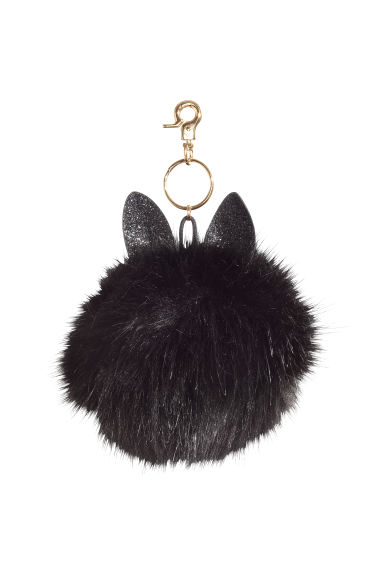 Keyring - Black/Glittery ears - Ladies | H&M