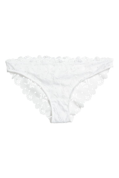 Lace bikini briefs - White -  | H&M GB