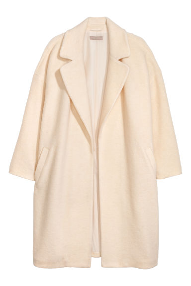 H&M+ Wool-blend coat - Natural white - Ladies | H&M IE
