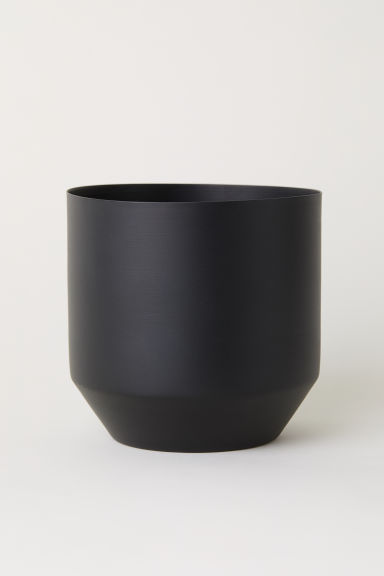 Metal plant pot - Black - Home All | H&M CN