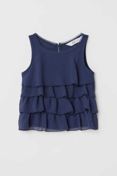 Tiered top - Dark blue - Kids | H&M CN