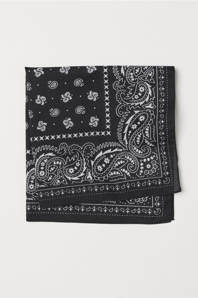 99a18fb5632 Foulard à motif - Noir motif - HOMME