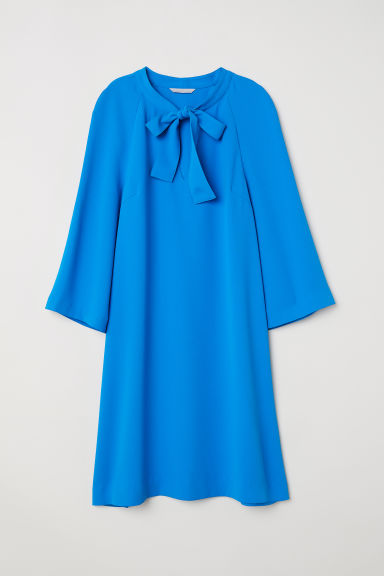 Crêpe dress - Blue - Ladies | H&M CN