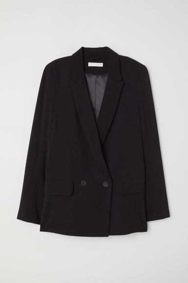 Double-breasted jacket - Black -  | H&M