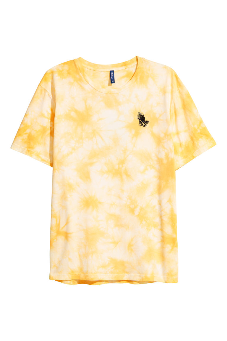 Relativ Batik-patterned T-shirt - Yellow - Men | H&M OK75