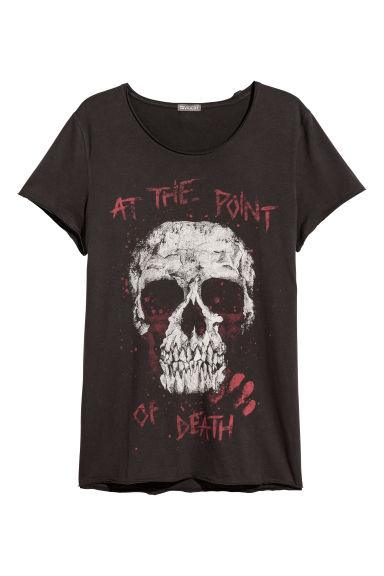 Printed T-shirt - Black/Skull - Men | H&M CN