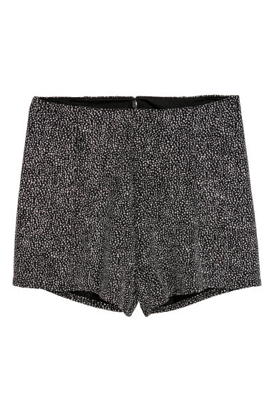 Glittery shorts - Black/Glittery - Ladies | H&M