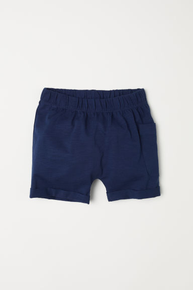 Slub jersey shorts - Dark blue -  | H&M CN