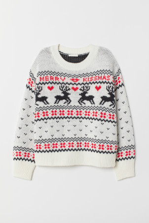 Pattern-knit Sweater