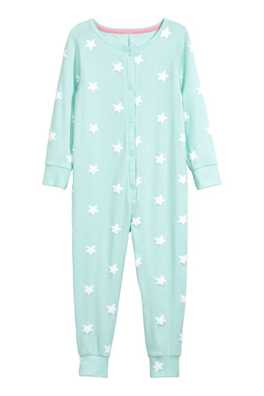 Jersey pyjamas - Light turquoise/Stars - Kids | H&M