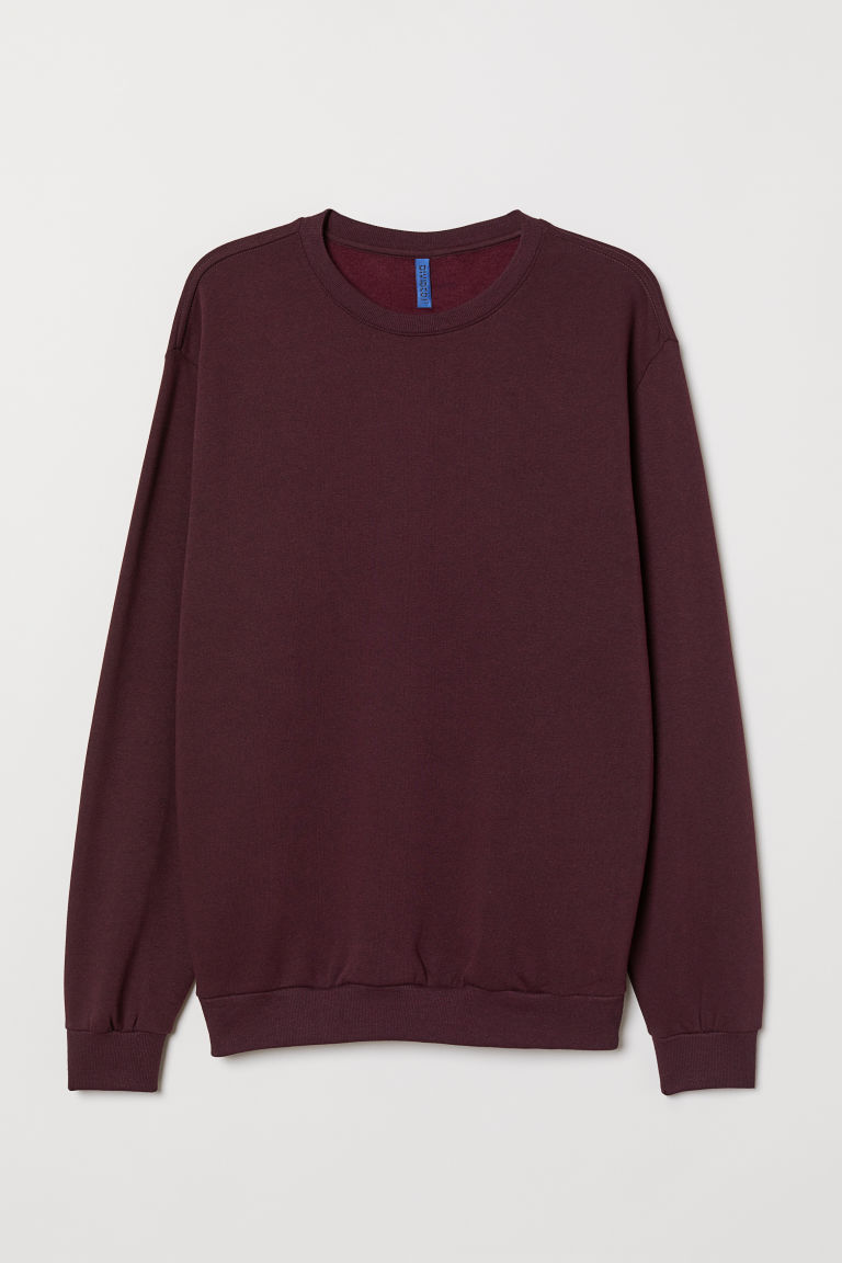 Sweat oversize - Prune - HOMME | H&M FR