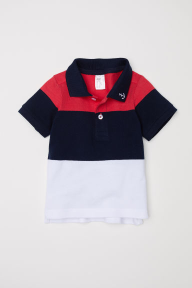 Polo - Blu scuro/color block -  | H&M IT