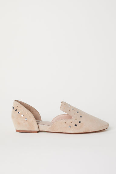 Suede loafers - Beige -  | H&M CN