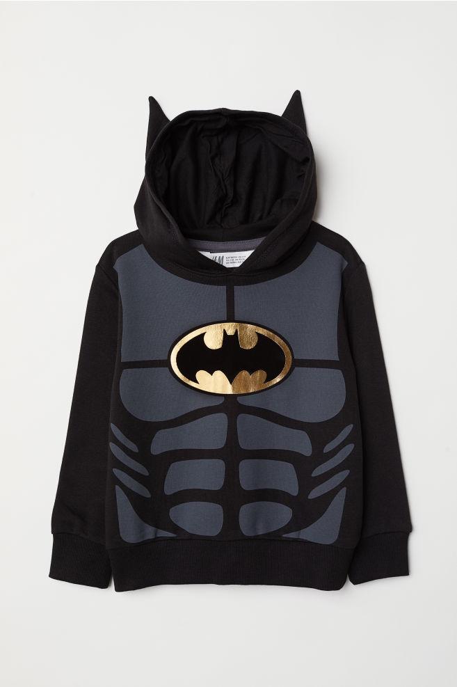 Mikina s kapucí a s potiskem - Černá Batman - DĚTI  db3ed9cbd5e