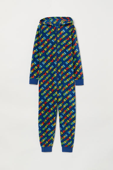 Fleece all-in-one suit - Blue/Super Mario - Kids | H&M CN