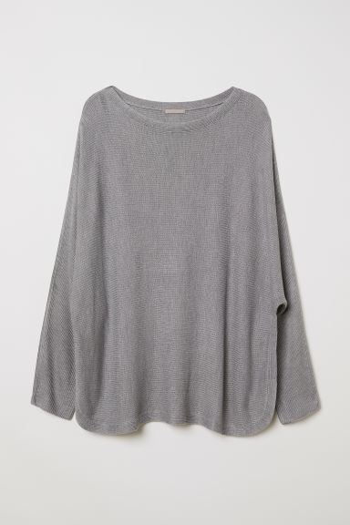 H&M+ Knitted jumper - Grey marl - Ladies | H&M