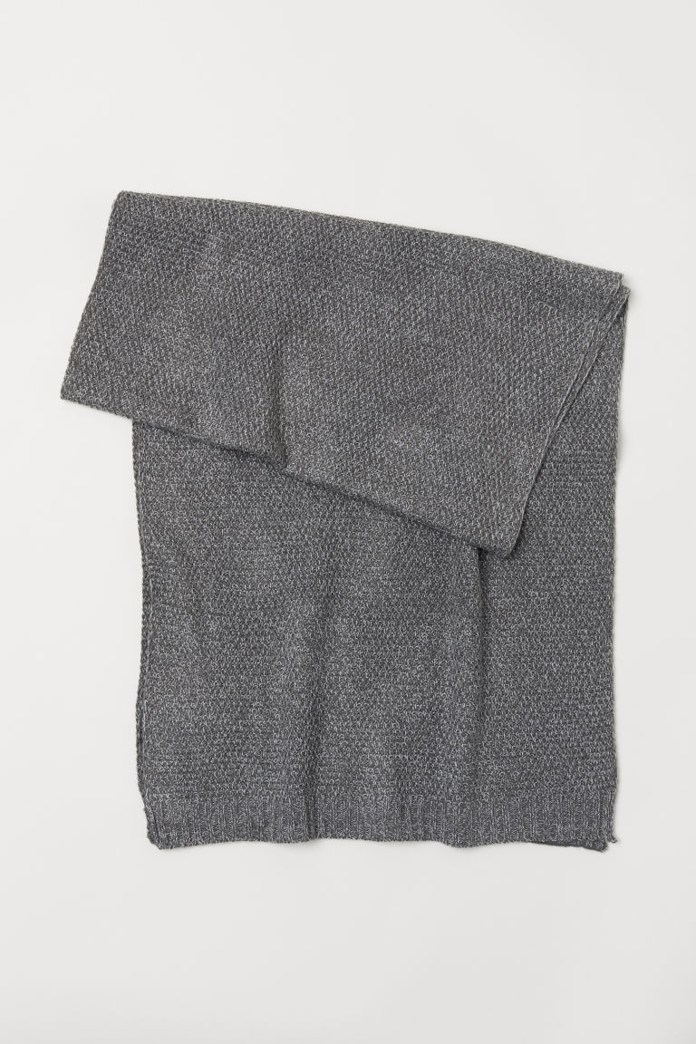 Textured-knit scarf - Grey marl - Men | H&M CN