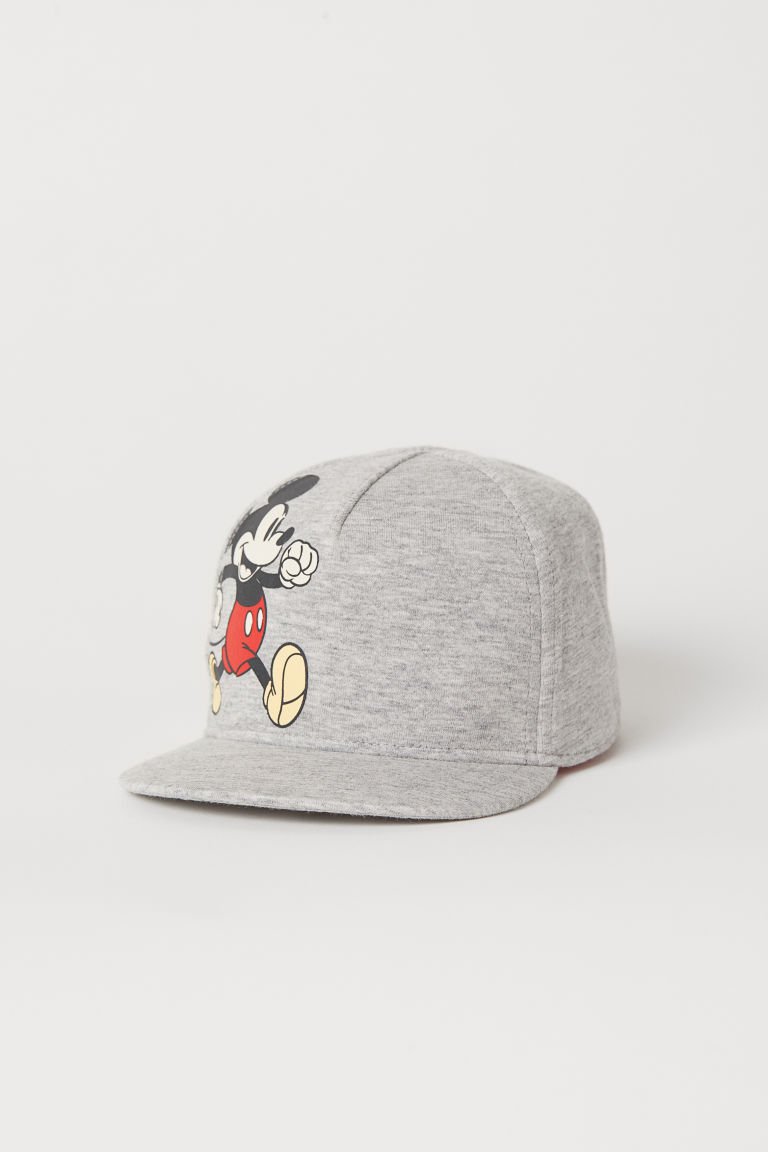 Cotton jersey cap - Grey marl/Mickey Mouse - Kids | H&M