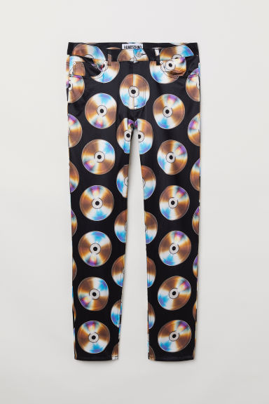 Patterned trousers - Black/CDs - Men | H&M
