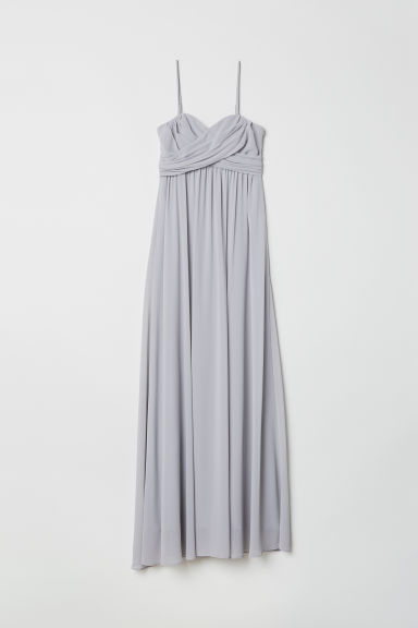 Long bandeau dress - Light grey - Ladies | H&M