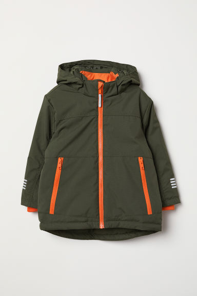 Padded outdoor jacket - Dark green - Kids | H&M