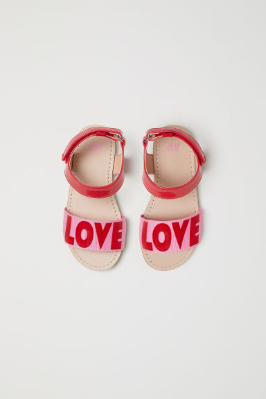 Sandalen - Felrood/Love - KINDEREN | H&M BE