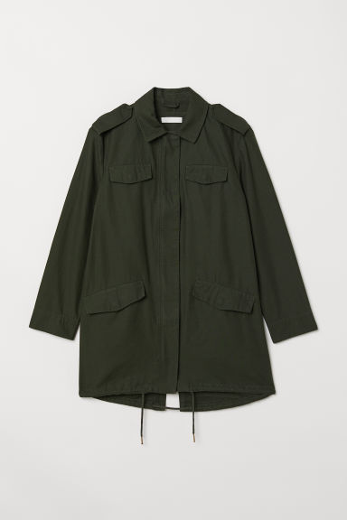 Long utility jacket - Dark green - Ladies | H&M