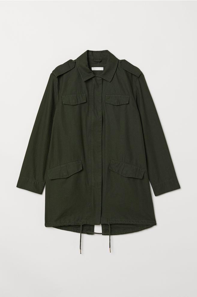 550ab2fc850 Long Utility Jacket - Dark green - Ladies