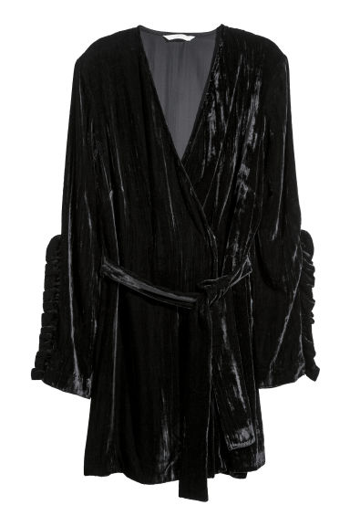 Crushed velvet cardigan - Black -  | H&M