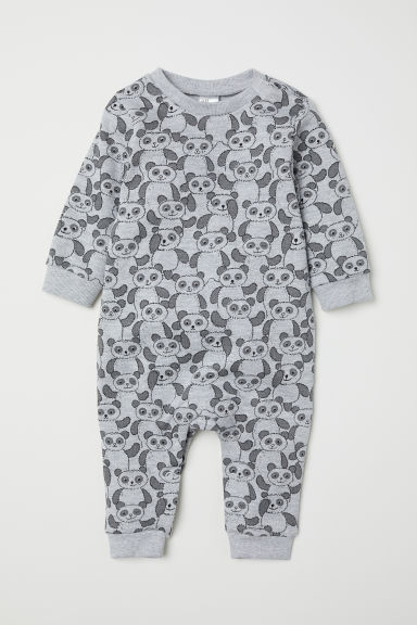 All-in-one suit - Light grey marl/Pandas - Kids | H&M CN