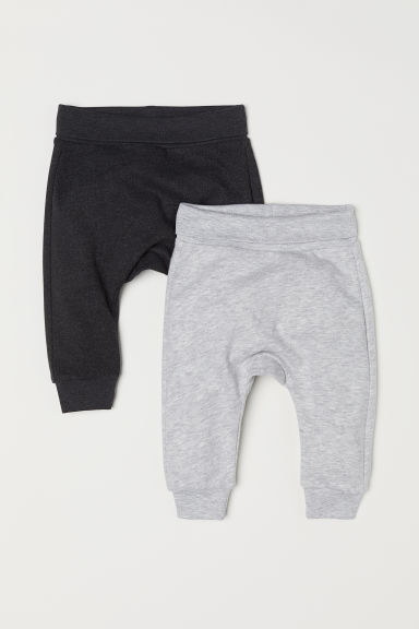 2-pack sweatshirt leggings - Light grey marl - Kids | H&M CN