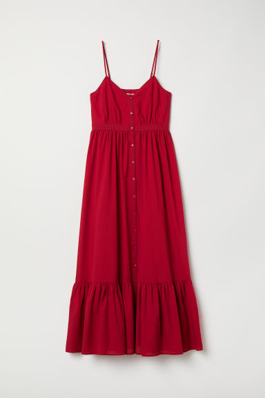 Cotton maxi dress - Red - Ladies | H&M