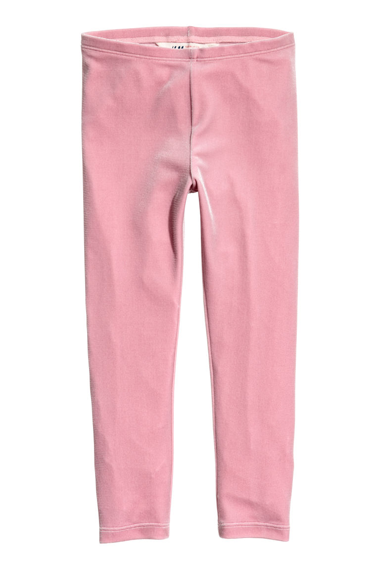 Velour leggings - Pink - Kids | H&M CN