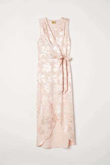 Jacquard-weave dress - Light powder pink - Ladies | H&M CN