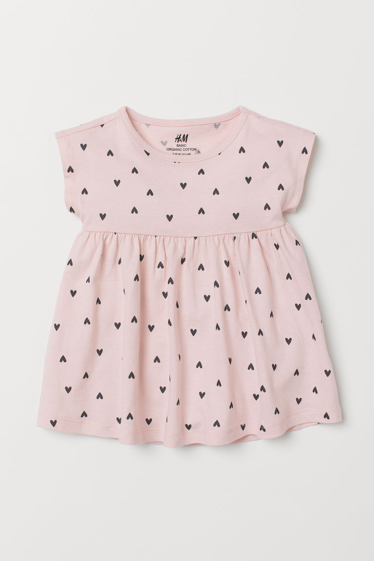 Jersey dress - Light pink/Hearts - Kids | H&M