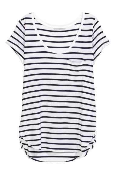 Jersey top - Dark blue/Striped -  | H&M IE