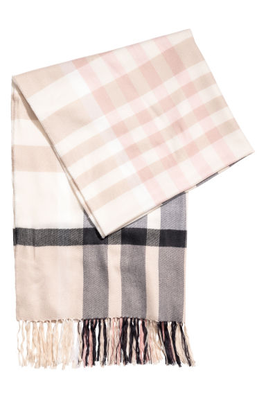 Scarf - Light beige/Checked - Ladies | H&M CN