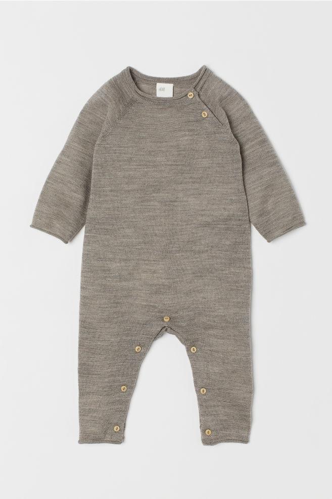 64efb926d Merino wool all-in-one suit - Mole - Kids